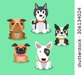 cartoon dogs standing | Shutterstock .eps vector #306134024