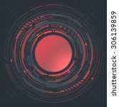Red Planet. Futuristic Digital...