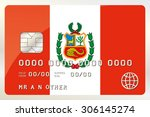 an illustration of a credit... | Shutterstock .eps vector #306145274