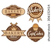 bakery badge   labels | Shutterstock .eps vector #306152414