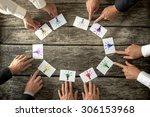 teamwork and brainstorming... | Shutterstock . vector #306153968