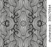 abstract waves seamless pattern ... | Shutterstock .eps vector #306170564