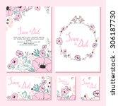 wedding design collection.... | Shutterstock .eps vector #306187730