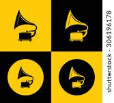 very useful icon of gramophone | Shutterstock .eps vector #306196178
