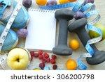 fruits for weight loss  a... | Shutterstock . vector #306200798