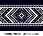 geometric ethnic pattern... | Shutterstock .eps vector #306212900