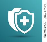 vector medical shield icon... | Shutterstock .eps vector #306217484