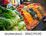 Marketplace With Vegetables In...
