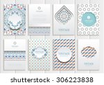 stock vector set of brochures... | Shutterstock .eps vector #306223838