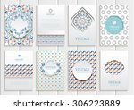 stock vector set of brochures... | Shutterstock .eps vector #306223889