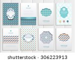 stock vector set of brochures... | Shutterstock .eps vector #306223913