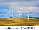 group of wind turbines at a... | Shutterstock . vector #306231020