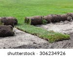 unrolling grass turf rolls for...   Shutterstock . vector #306234926