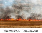 Big Flames In An Harvested...