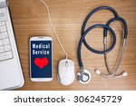 medical applications on the... | Shutterstock . vector #306245729