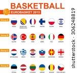 basketball  eurobasket 2015 ... | Shutterstock .eps vector #306248819