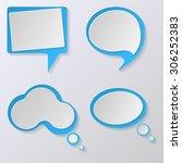 vector bubble speech   Shutterstock .eps vector #306252383