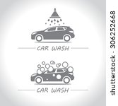 car wash  set of vector logos. | Shutterstock .eps vector #306252668