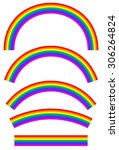 set of rainbows with different... | Shutterstock .eps vector #306264824
