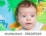 3 months old baby boy playing... | Shutterstock . vector #306269264