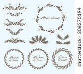 set flower ornament. design...   Shutterstock .eps vector #306270194