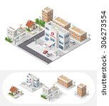 isometric high quality city... | Shutterstock .eps vector #306273554