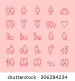set of isolated modern... | Shutterstock .eps vector #306284234