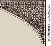 geometric corner frame pattern...   Shutterstock .eps vector #306291710