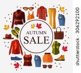 autumn sale. women's clothing....   Shutterstock .eps vector #306292100