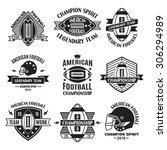 retro vintage american football ... | Shutterstock .eps vector #306294989
