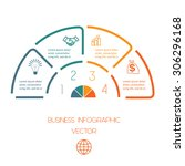 infographic semicircle...