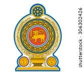 sri lanka emblem   national...   Shutterstock .eps vector #306302426