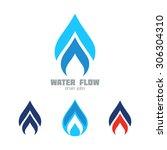 water   gas supply service... | Shutterstock .eps vector #306304310