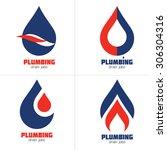 plumbing business icon vector... | Shutterstock .eps vector #306304316