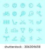 set of isolated modern... | Shutterstock .eps vector #306304658