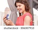 what a beauty. portrait of... | Shutterstock . vector #306307910