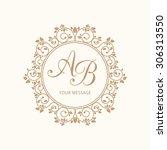 elegant floral monogram design... | Shutterstock .eps vector #306313550
