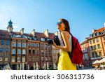 Female Young Traveler With...