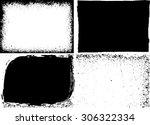 grunge frame texture set  ... | Shutterstock .eps vector #306322334