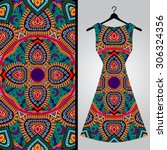fabric pattern design for a... | Shutterstock .eps vector #306324356