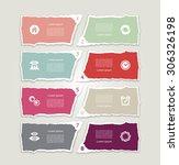 modern torn paper for... | Shutterstock .eps vector #306326198