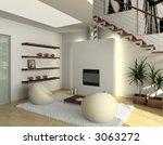 modern comfortable interior... | Shutterstock . vector #3063272