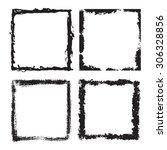 grunge frame texture set  ... | Shutterstock .eps vector #306328856