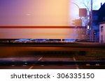 A Railroad Crossing At Night...