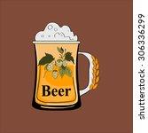 beer logo template.  special... | Shutterstock . vector #306336299