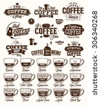 coffee label  logo and menu | Shutterstock .eps vector #306340268