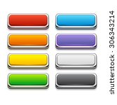 set of colorful buttons in... | Shutterstock . vector #306343214