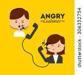 angry customer design  vector... | Shutterstock .eps vector #306352754