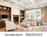 beautiful living room with... | Shutterstock . vector #306355310