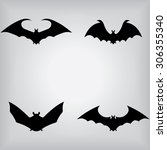 bat icons | Shutterstock .eps vector #306355340